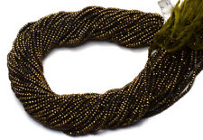 "Natural Gemstone Golden Pyrite Micro Faceted 2.5MM Rondelle Beads 13"" Strand"