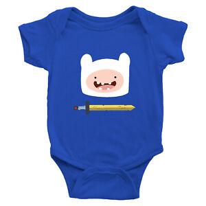 Finn the Human Scarlet Sword Hero Infant Baby Boy Girl Rib Bodysuit Babysuit