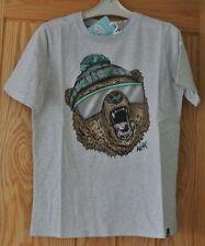 New Boys Animal top/Tshirt 100% cotton grey age 9-10 years