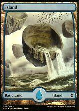 Island FOIL-version 4 (Full Art) | NM/M | Battle for zendikar | Magic MTG