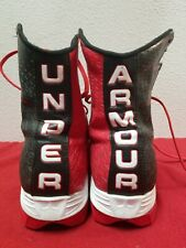Under Armour Highlight football lacrosse Shoes Cleats Sz 8.5 Black red ClutchFit