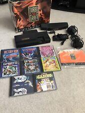 RARE Turbo Grafx 16 Console In Box & Game Lot 8 Video Games Dust Cover (READ)!