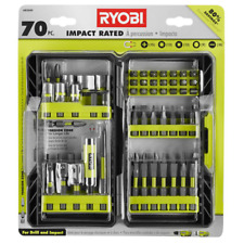 Hand Power Tool Accessories Drill Bits Screwdriver Impact Rated Driving Kit 70pc