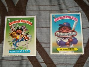 GARBAGE PAIL KIDS (GLOOEY GABE, MOUTH PHIL) GREAT CONDITION