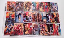 Marvel Masterpieces 1996 Complete 99 Card Set Minus 1 Julie Bell Boris Vallejo