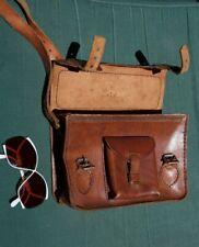"""satchel vintage shoulder Genuine Leather  Messenger  shoulder  bag purse 70""""s"""