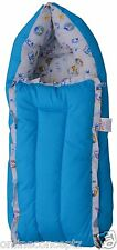 J & J Baby Bedding set/ Baby Carrier/ Sleeping Bag / New Born - Floral Blue