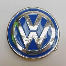 Metal VOLKSWAGEN VW Emblem Symbol BELT BUCKLE Bug Beetle Bus Blue & Chrome