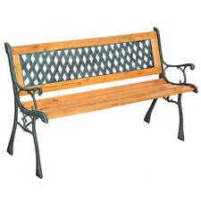 Panchina da giardino in ghisa e legno arredo esterno stile antico moderno