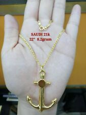 GoldNMore: 18K Gold Necklace And Pendant 22 inches chain EPTG