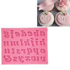 Silicone 26 Lowercase Alphabet Letters Mold Fondant Mat Cake Mould Tool act
