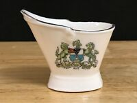 Rare Vintage Crested China, City of Belfast Coat of Arms, Coal Scuttle