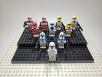 Star Wars Minifigures Mixed Clone Trooper Commander Lot of 10 (Not made by Lego)