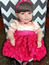 """Adora Party Perfect Dark Brown Hair with Brown Eyes 20"""" Baby Doll"""