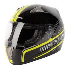 GMAC PILOT Motorcycle Motorbike Helmet, Black/Safety Yellow, L