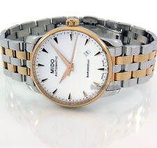 MIDO MEN BARONCELLI SWISS MADE AUTOMATIC TWO-TONE STEEL 38mm SAPPHIRE M86009111