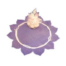 """24 pc white organza circles 9"""" w/tie ribbon flower edge"""
