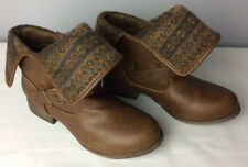 S O Brown Ankle Blanket Boots 73277 SOBLANKETBROWN