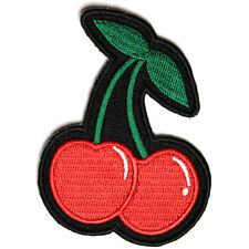 Embroidered Cherry Cherries Sew or Iron on Patch Biker Patch