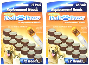 12 Pedipaws Replacement Filing Heads Dog Cat Nail Grinder Claw Care (2PK, 4PK)