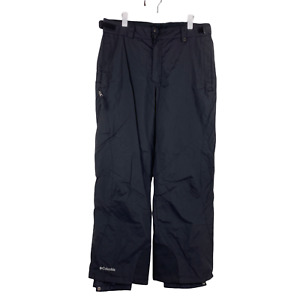 Columbia Mens Black Lined Water Resistant Snow Snowboard Pants Size Large EUC