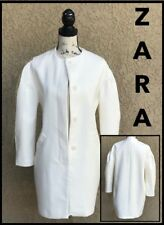 ZARA (xS) IVORY CONCEALED BUTTON DOWN COAT wFULL SLEEVES Sz xS *BRAND NEW wTAG