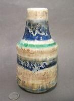 Vtg Mid Century Modern KARLSRUHE German Majolica Art Pottery LAVA Glaze Vase MCM