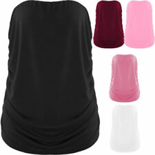 Bandeau Fitted Tops & Shirts for Women with Ruched