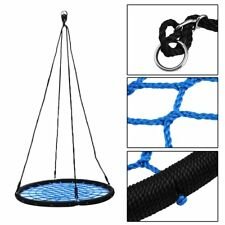 "40"" Tire Spider Web Swing 71"" Nylon Rope Swivel Tree Net Assembled,600 lbs MaxBS"