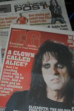 ALICE COOPER NOTTINGHAM EVENING POST 2/11/07 PIC ON COVER AND COLOUR PULL OUT MA