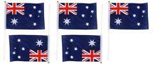 5x Australian Flag Australia Day Aussie Flags w/ Handle 21cm X 14cm Wave Flag
