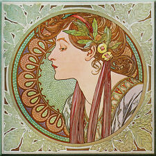 Ceramic Wall tile 6 X 6 inch, Illustration Art nouveau Alphonse Mucha #3