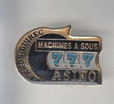 RARE PINS PIN'S .. JEU CASINO ROULETTE SLOT 777 PERROS GUIREC 22 ~AR
