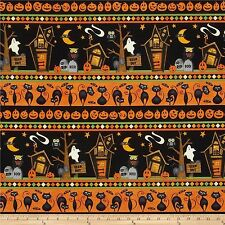 Halloween Scaredy Cats Fabric by Wilmington 100% Cotton  FQ 50cm x 55cm