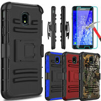 For Samsung Galaxy J7 Crown/Refine/Star Stand Clip Case With Screen Protector