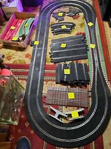 LOT of SCX Full Set 1/32 Slot Car Track Power + 2 controllers TESTED