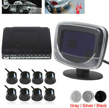 New Weatherproof 8 Rear and Front View Car Parking Sensors with Display Monitor