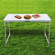 More details for 4ft folding camping table aluminium picnic portable adjustable party bbq outdoor