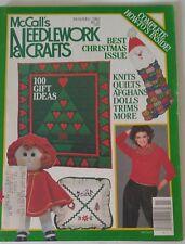McCall's Needlework & Crafts BEST CHRISTMAS Magazine 1982 Gifts Knitting Crochet