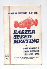 1954 Port Wakefield Trophy Meeting Programme Racing Touring Sports Car Program