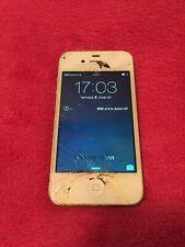 *READ DESCRIPTION Apple iPhone 4s - 16GB - White (Unlocked) A1387 (CDMA + GSM)