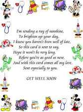 30 Assorted Get well soon Card verse inserts for A6 cards
