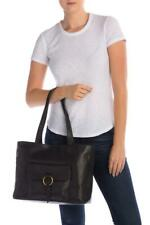 New with Tag - $398 Frye Madison Front Pocket Black Leather Tote Bag