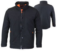 Men's Water Resistant Collared Lightweight Warm Windbreaker Athletic Jacket