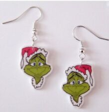Santa Grinch from the Movie / Book How the Grinch stole Christmas Earrings