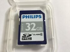 1pcs used 32gb Philips SDHC Flash Memory Cards for SDHC Nikon Canon
