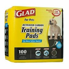 Glad for Pets Black Charcoal Puppy Pads | Potty Training 100 Count