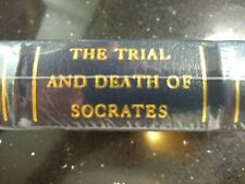 THE TRAIL AND DEATH OF SOCRATES by PLATO SEALED LEATHER BOUND