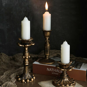 Candlestick Resin Vintage Candle Holder Decoration Stand for Party Wedding Home