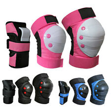 6 Pcs/Set Adult Kid Roller Skating Knee Wrist Hand Brace Pads Protective Guard